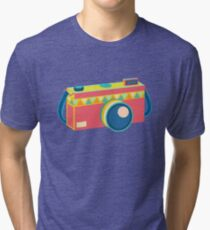 Say Cheese! - retro Camera Tri-blend T-Shirt