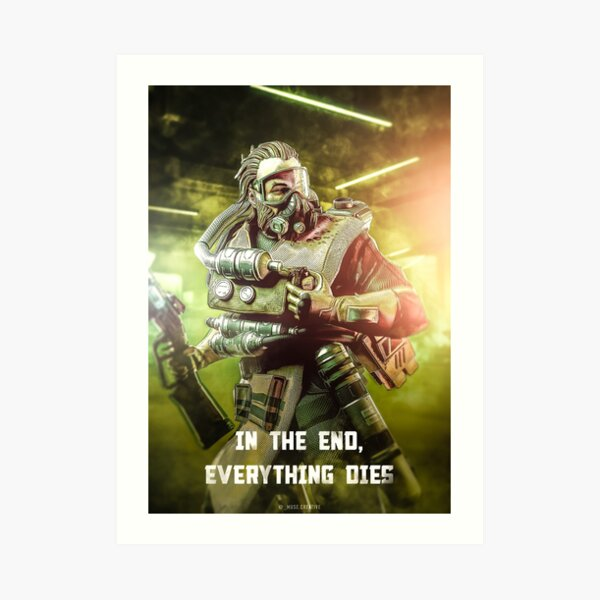 Caustic Apex Legends Poster Art Print