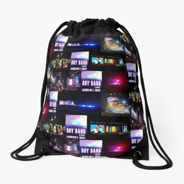 Boy Band Collage Drawstring Bag