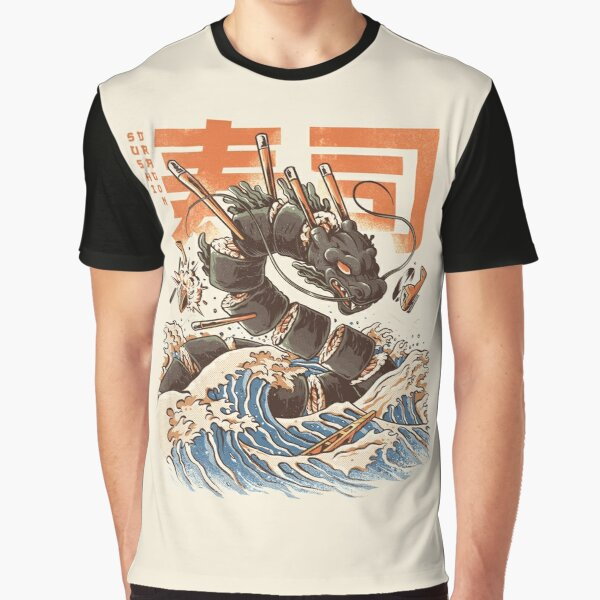 Le grand dragon à sushi! T-shirt graphique