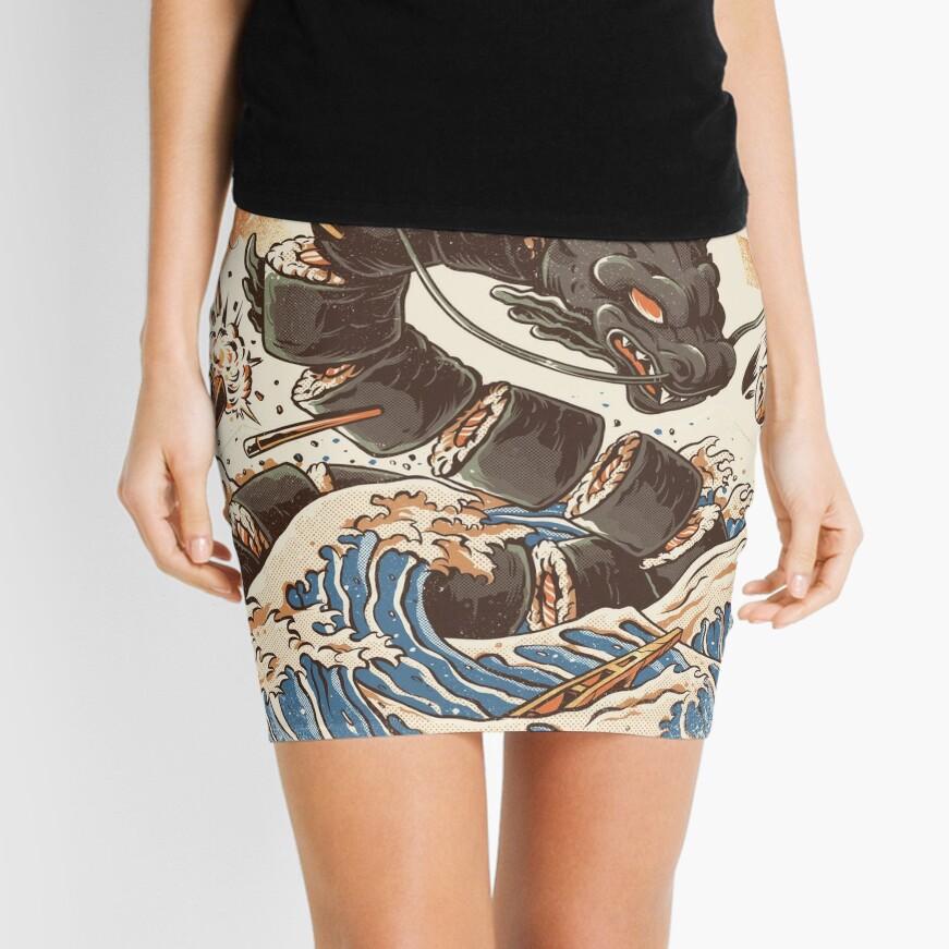 Great Sushi Dragon  Mini Skirt