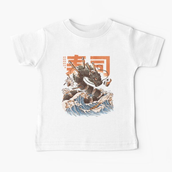 Le grand dragon à sushi! T-shirt bébé