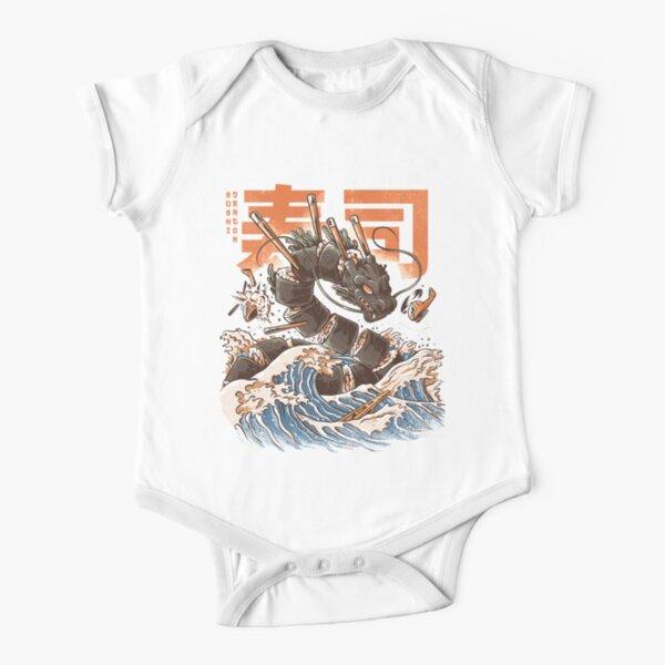 Great Sushi Dragon Body de manga corta para bebé
