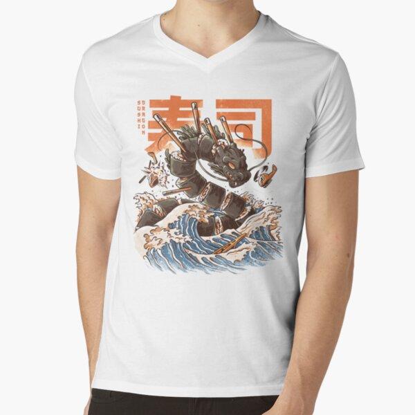 Great Sushi Dragon  V-Neck T-Shirt