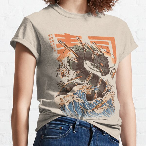 Le grand dragon à sushi! T-shirt classique