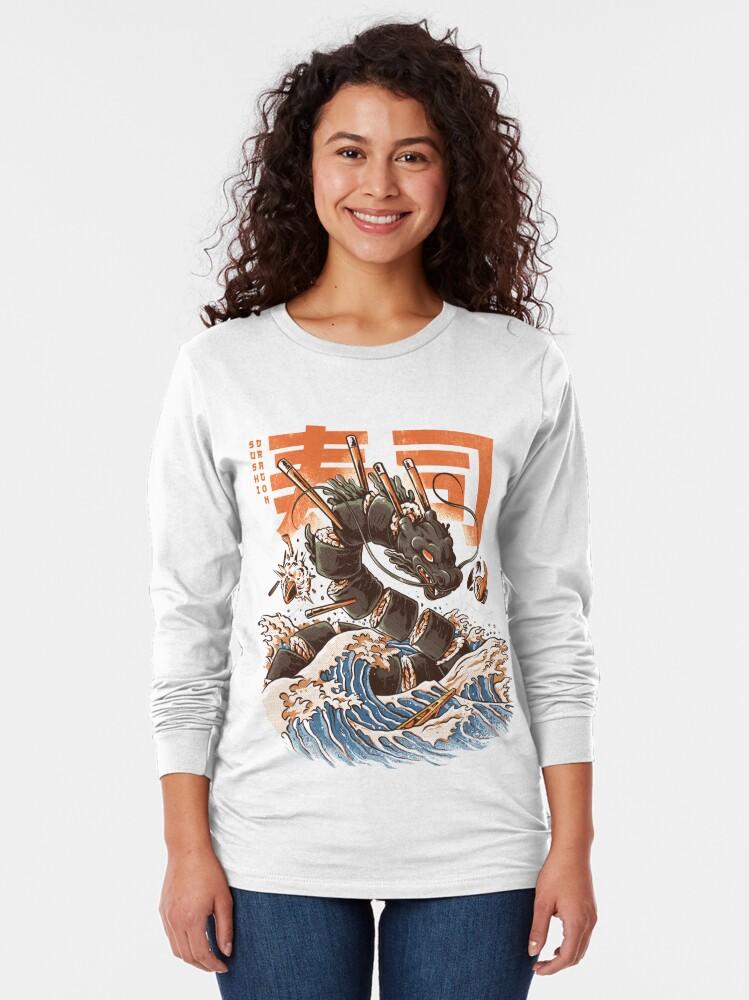 Alternate view of Great Sushi Dragon  Long Sleeve T-Shirt