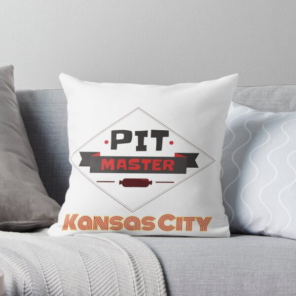 Pit Master Kansas City Kingdom Smoker Grill funny design Throw Pillow