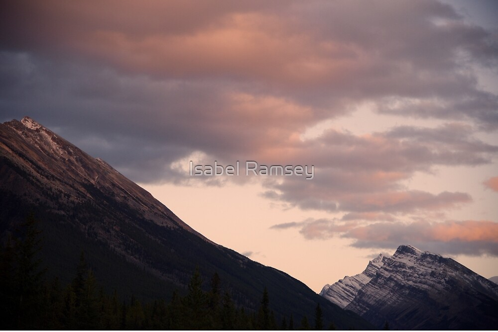 Sunset Over Mountain by Isabel Ramsey