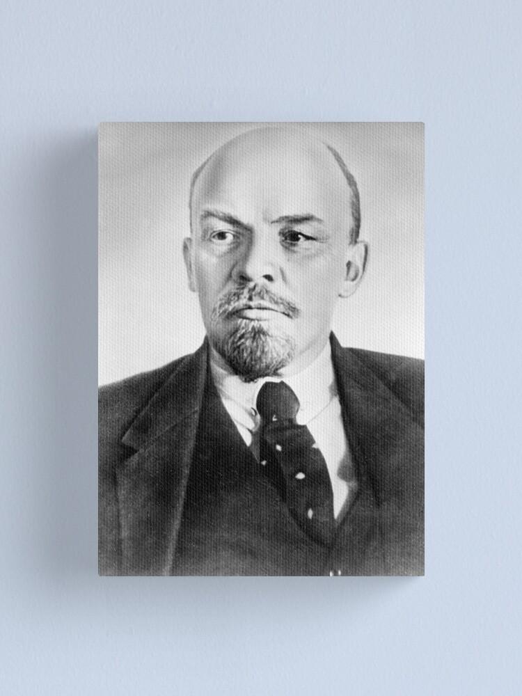 Alternate view of Vladimir Lenin. Vladimir Ilyich Ulyanov, better known by his alias Lenin, was a Russian revolutionary, politician, and political theorist. Canvas Print