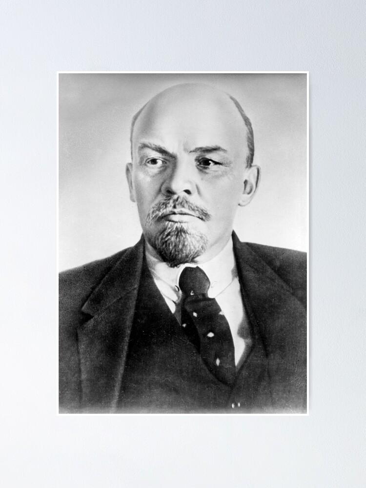 Alternate view of Vladimir Lenin. Vladimir Ilyich Ulyanov, better known by his alias Lenin, was a Russian revolutionary, politician, and political theorist. Poster