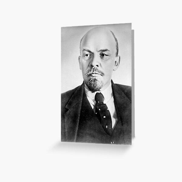 Vladimir Lenin. Vladimir Ilyich Ulyanov, better known by his alias Lenin, was a Russian revolutionary, politician, and political theorist. Greeting Card