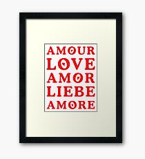 The Language of Love - Text Art Framed Print