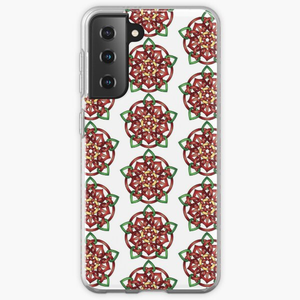 Rose in Tudor and Celtic Style Samsung Galaxy Soft Case