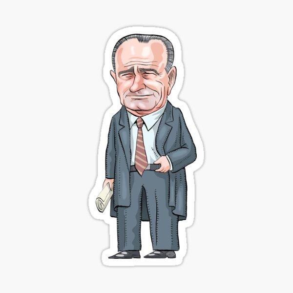 President Lyndon B. Johnson  Sticker