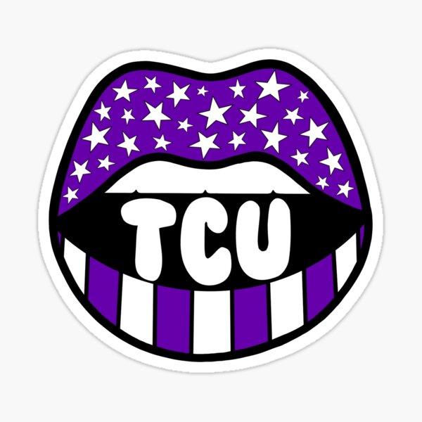 """TCU"" Stars & Stripes Mouth Sticker"