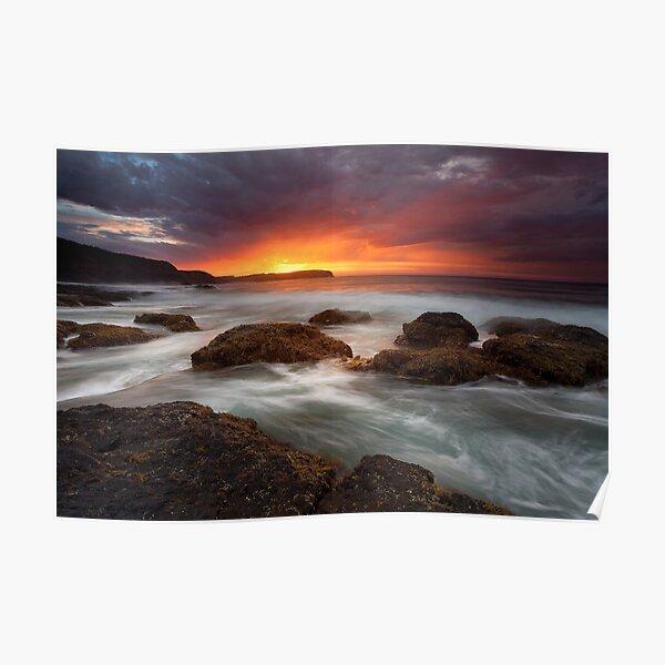 Pebble Beach Dawn Poster