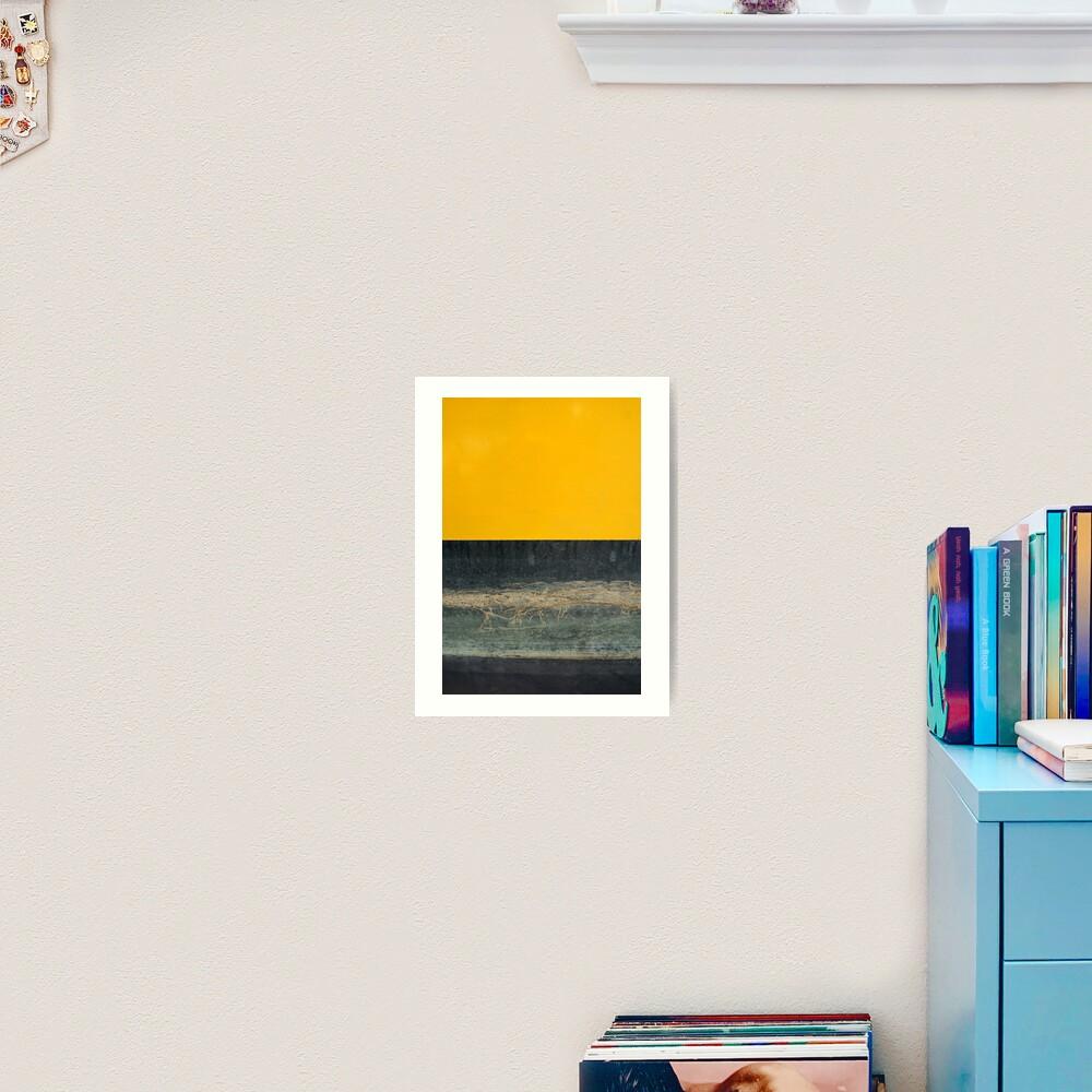 Gelb auf Blau Kunstdruck