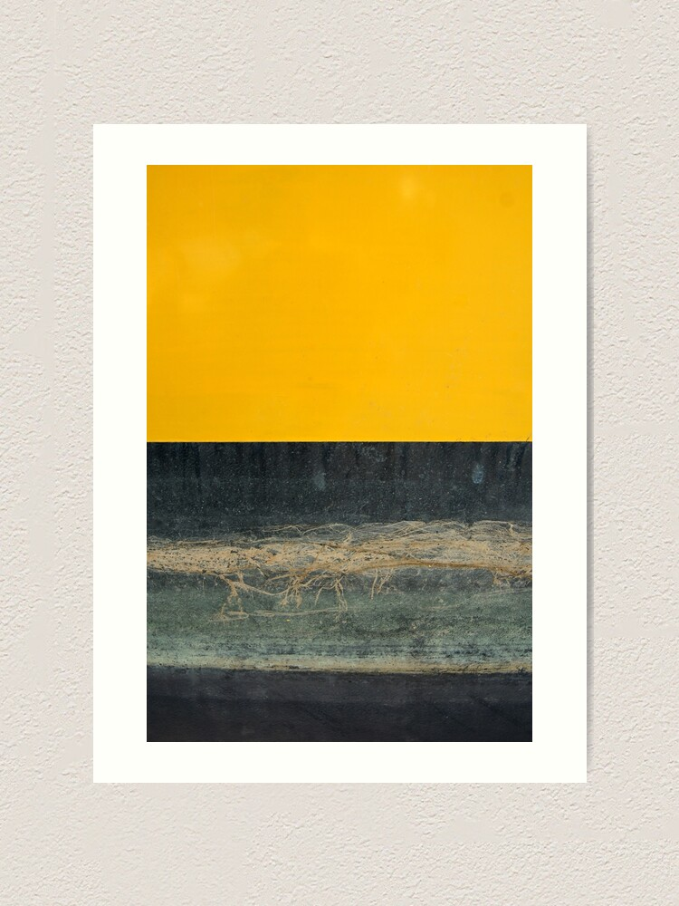 Alternative Ansicht von Gelb auf Blau Kunstdruck