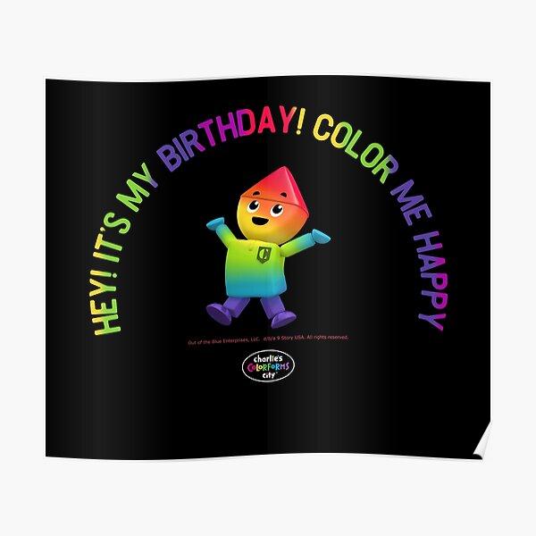 Charlie's Colorforms City - Color Me Happy Poster