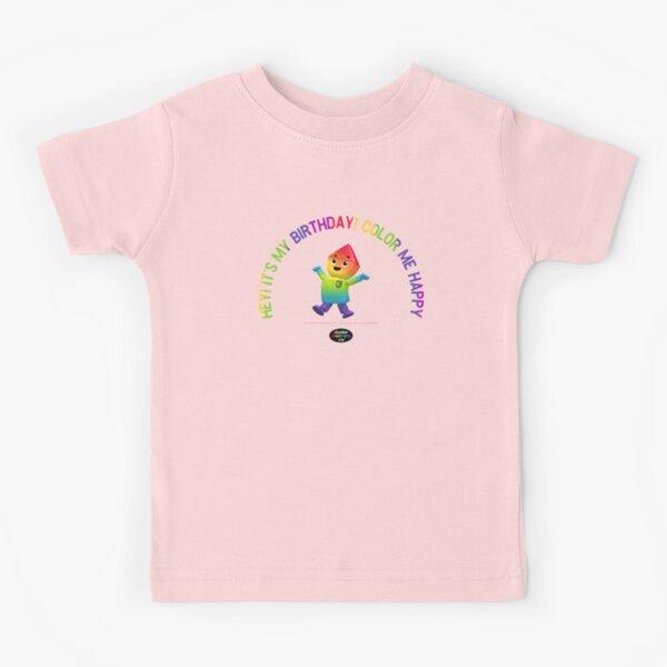 Charlie's Colorforms City - Color Me Happy Kids T-Shirt
