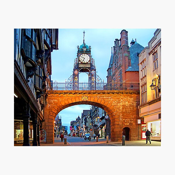 Grosvenor Clock Chester  Photographic Print