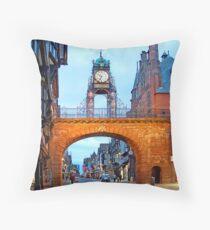 Grosvenor Clock Chester  Throw Pillow