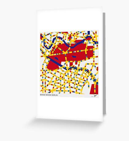 BOOGIE WOOGIE BERLIN Greeting Card