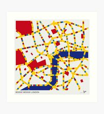 BOOGIE WOOGIE LONDON Art Print