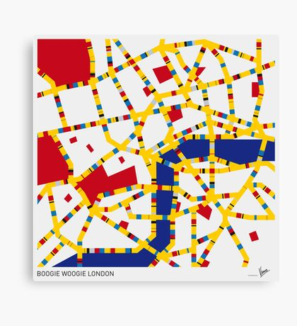 BOOGIE WOOGIE LONDON Canvas Print