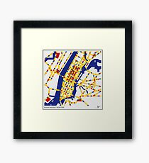 BOOGIE WOOGIE NEW YORK Framed Print