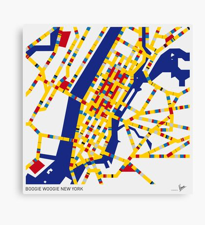 BOOGIE WOOGIE NEW YORK Canvas Print