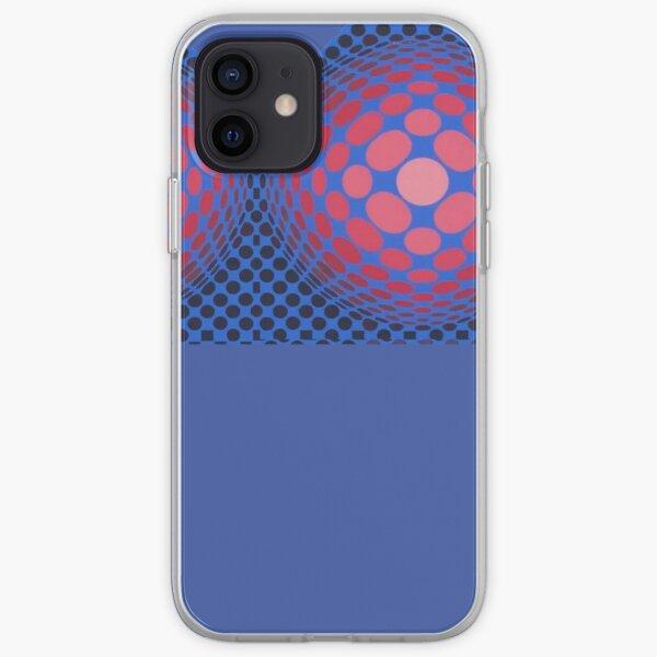 Victor Vasarely  OPTICAL ILLUSION Exterior Bra iPhone Soft Case
