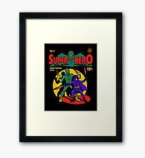 Superhero Comic Framed Print