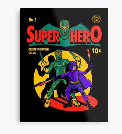 Superhero Comic Metal Print
