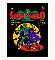 Superhero Comic Photographic Print