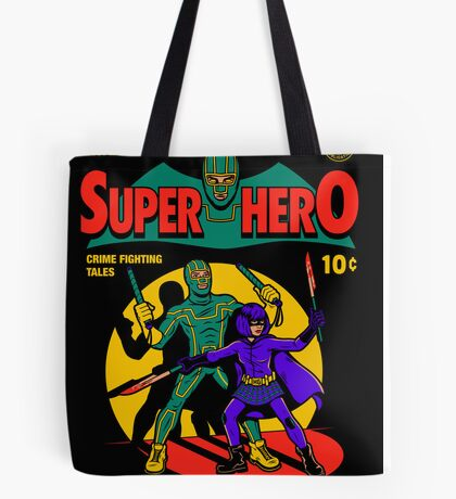 Superhero Comic Tote Bag
