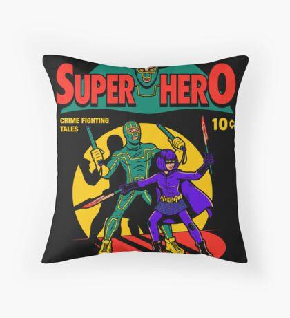 Superhero Comic Throw Pillow