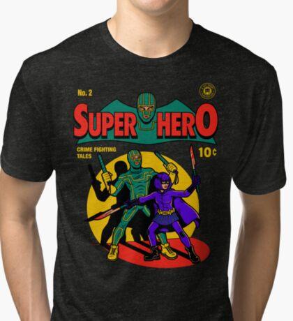 Superhero Comic Tri-blend T-Shirt