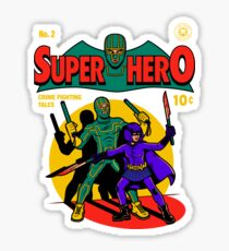 Superhero Comic Sticker