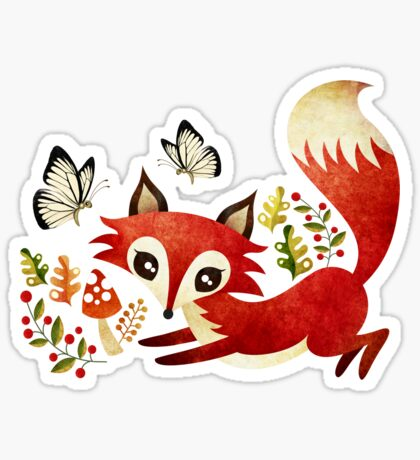 Playful Fox Sticker
