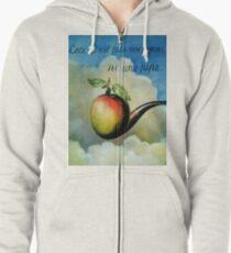 Ceci n'est pas une pomme ni une pipe Zipped Hoodie