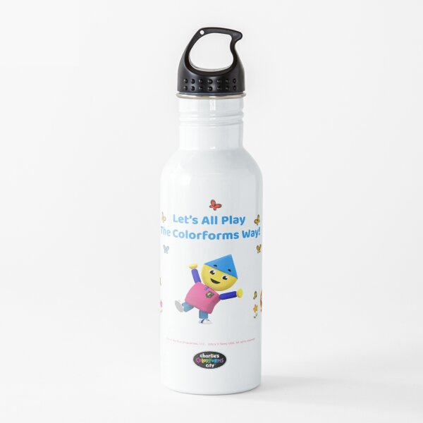 Charlie's Colorforms City - Let's all play the Colorforms way! Water Bottle