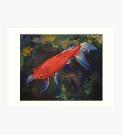 Haiku Koi Fish Art Print