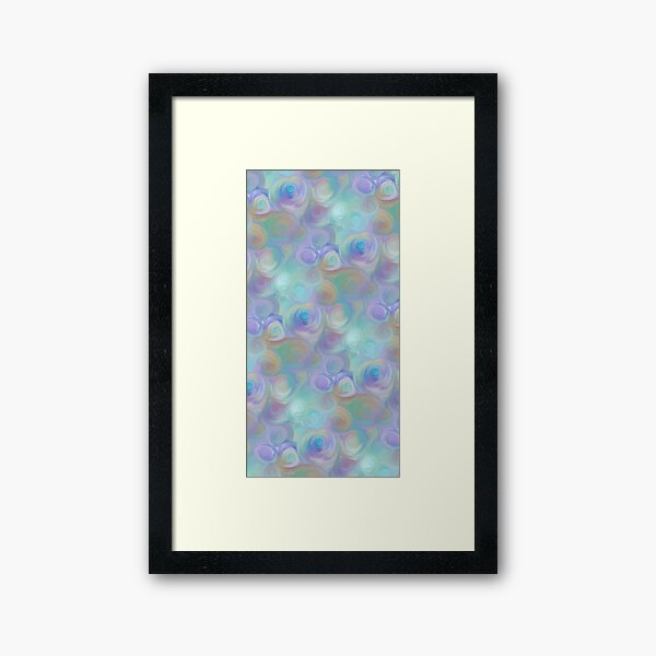 Abstract Painting 090820.3, Blue Rose Galaxy Framed Art Print