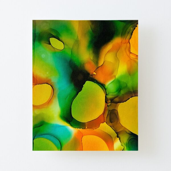 Groovy Alcohol Ink Canvas Mounted Print