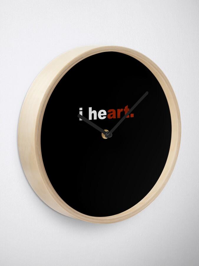 Alternate view of I Heart Art- Go Red Day- American Heart Association Clock