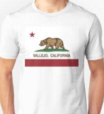 Vallejo California Republic Flag Unisex T-Shirt