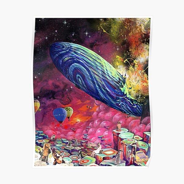 Zeppelin Rainbow Art Poster