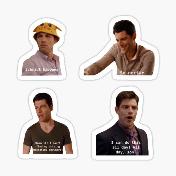 New Girl Schmidt Sticker Pack  Sticker