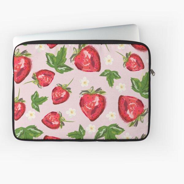 Strawberry Botanical Laptop Sleeve